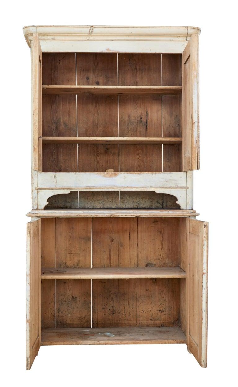 19th Century Rustic Swedish Painted Pine Cupboard 3