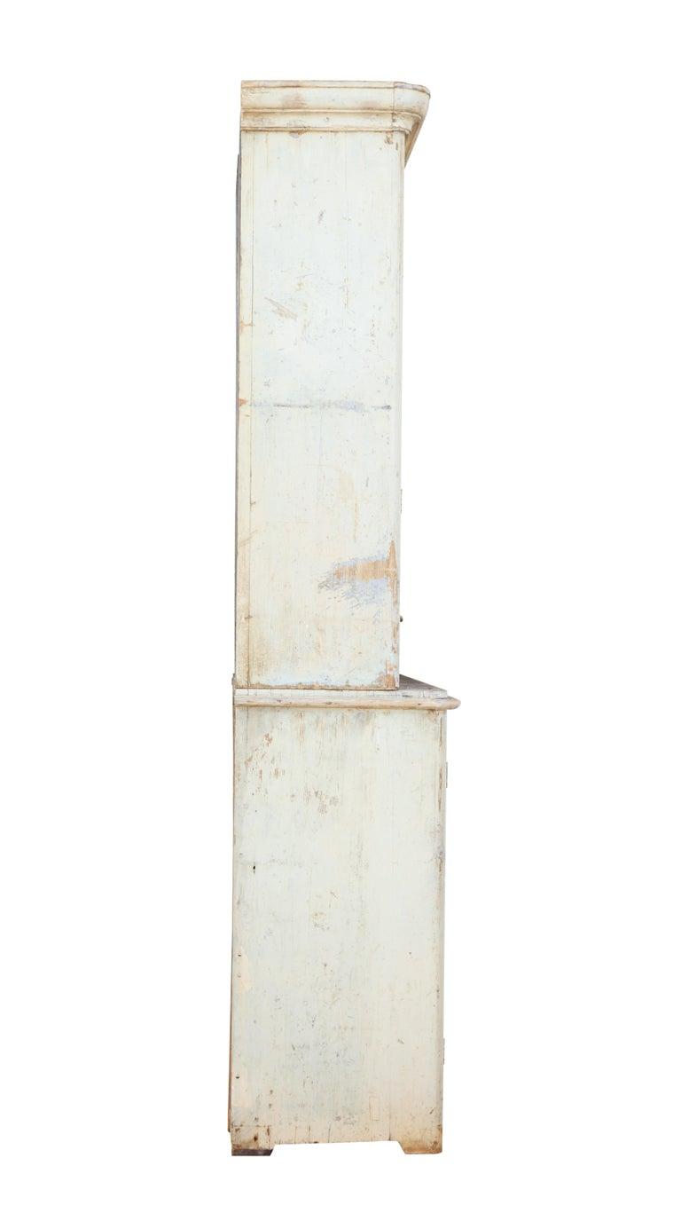 19th Century Rustic Swedish Painted Pine Cupboard 4