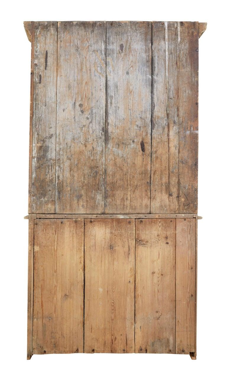 19th Century Rustic Swedish Painted Pine Cupboard 5