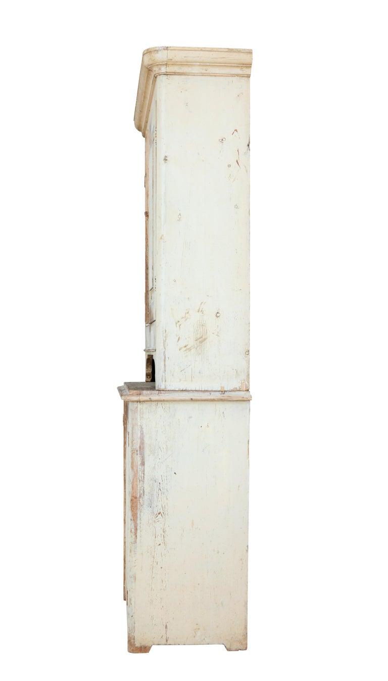 19th Century Rustic Swedish Painted Pine Cupboard 6