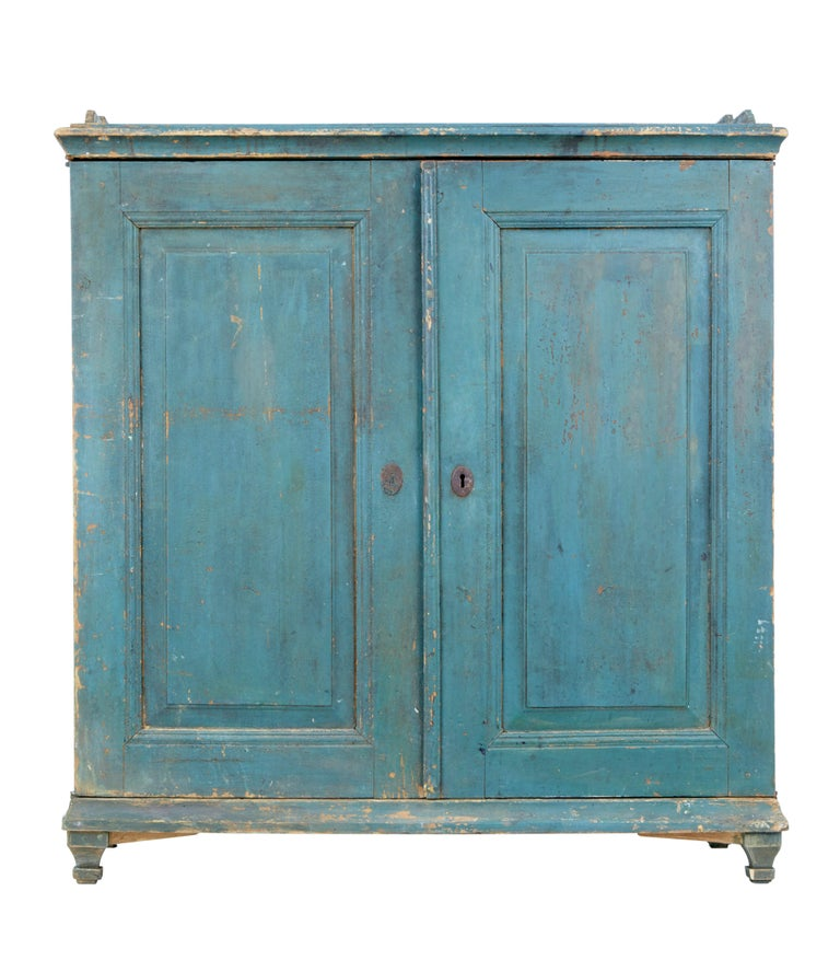 19th Century Rustic Swedish Painted Pine Sideboard 2