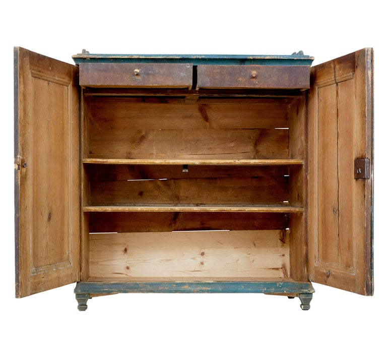19th Century Rustic Swedish Painted Pine Sideboard 4
