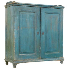 19th Century Rustic Swedish Painted Pine Sideboard