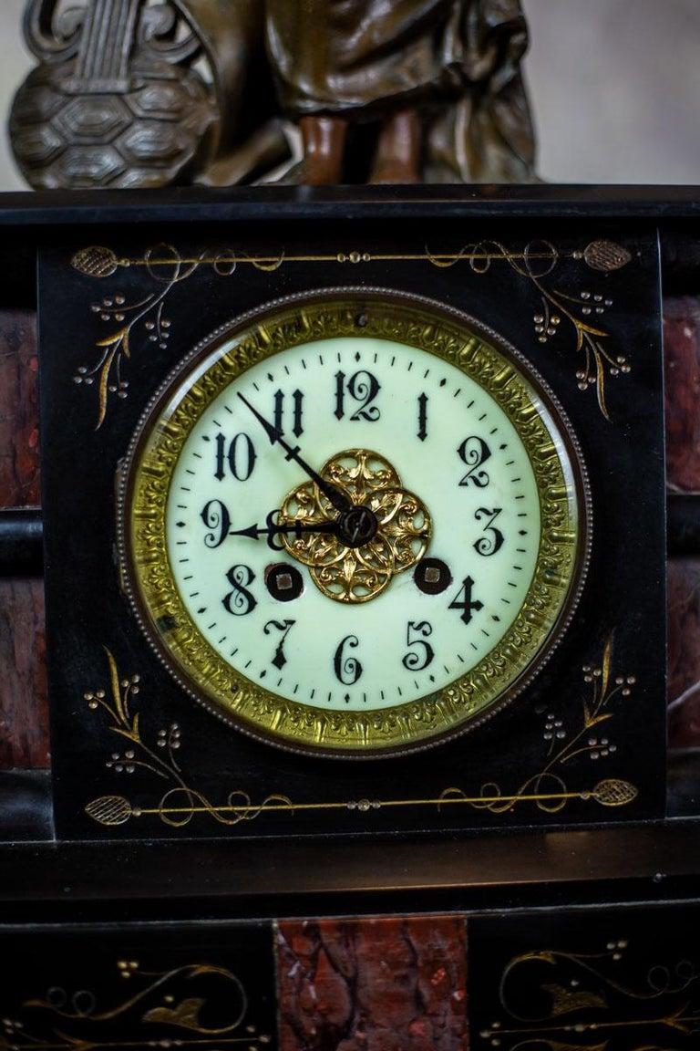19th Century S. Marti & Cie Mantle Clock Set For Sale 5