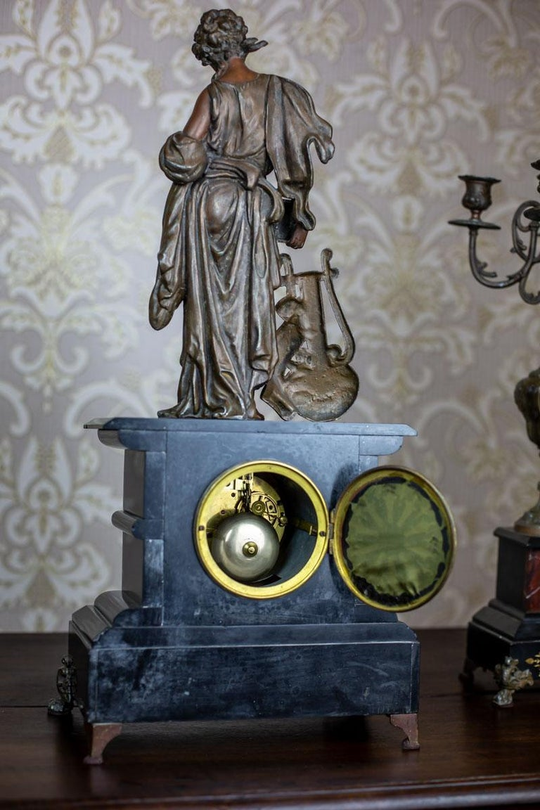 19th Century S. Marti & Cie Mantle Clock Set For Sale 8
