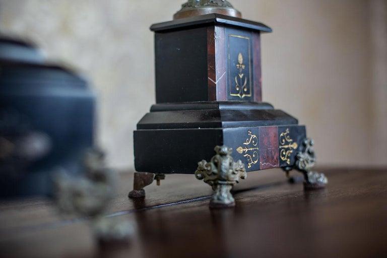19th Century S. Marti & Cie Mantle Clock Set For Sale 1