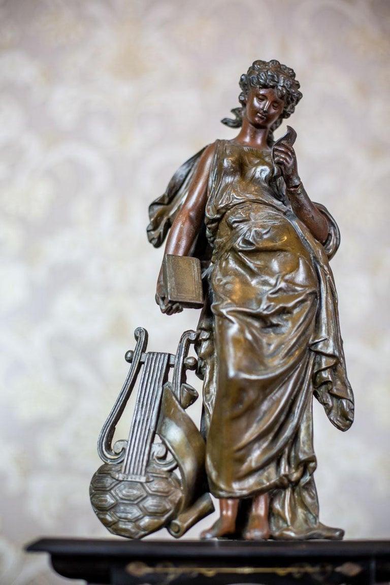 19th Century S. Marti & Cie Mantle Clock Set For Sale 2