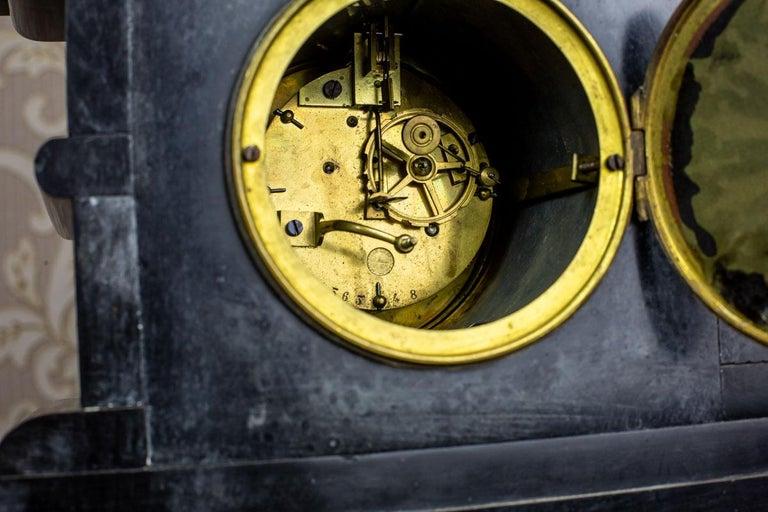 19th Century S. Marti & Cie Mantle Clock Set For Sale 3
