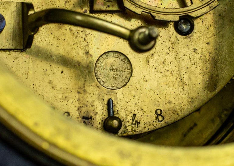 19th Century S. Marti & Cie Mantle Clock Set For Sale 4