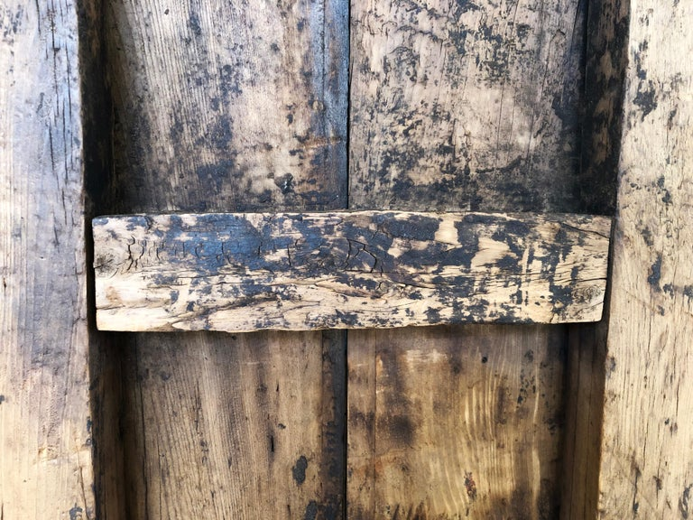 Hand-Crafted 19th Century Sabino Wood Door Found in Western México For Sale