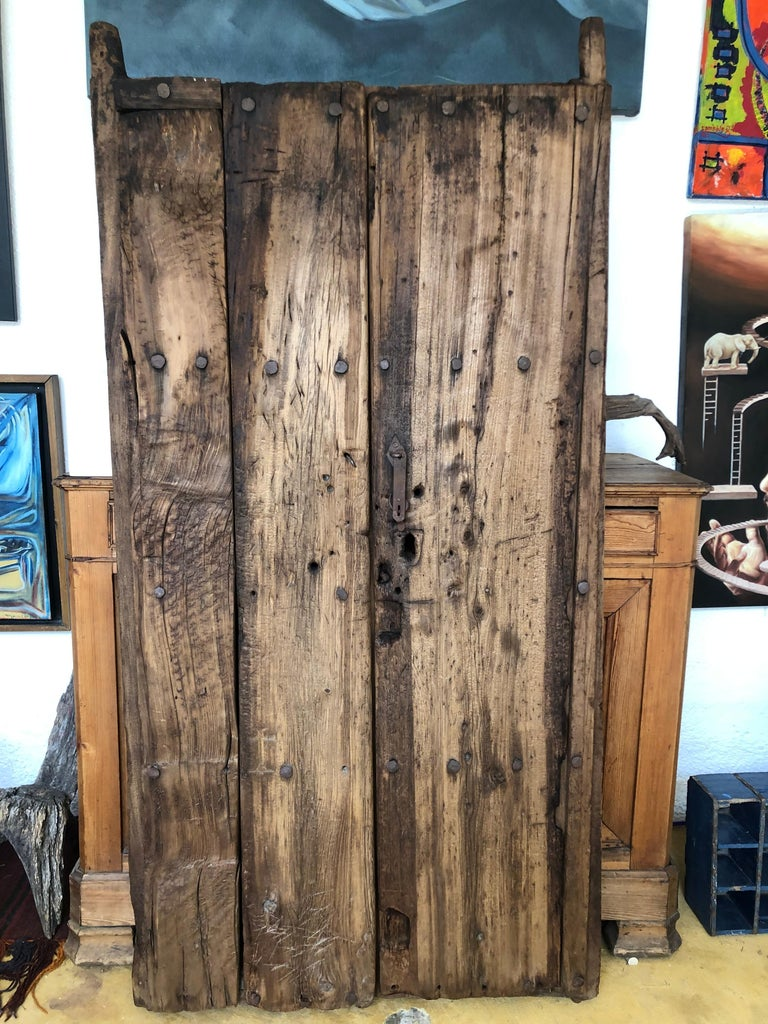 19th Century Sabino Wood Door Found in Western México For Sale 3