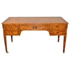 19th Century Satin Birch Desk