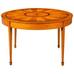 19th Century Satinwood Circular Centre Table