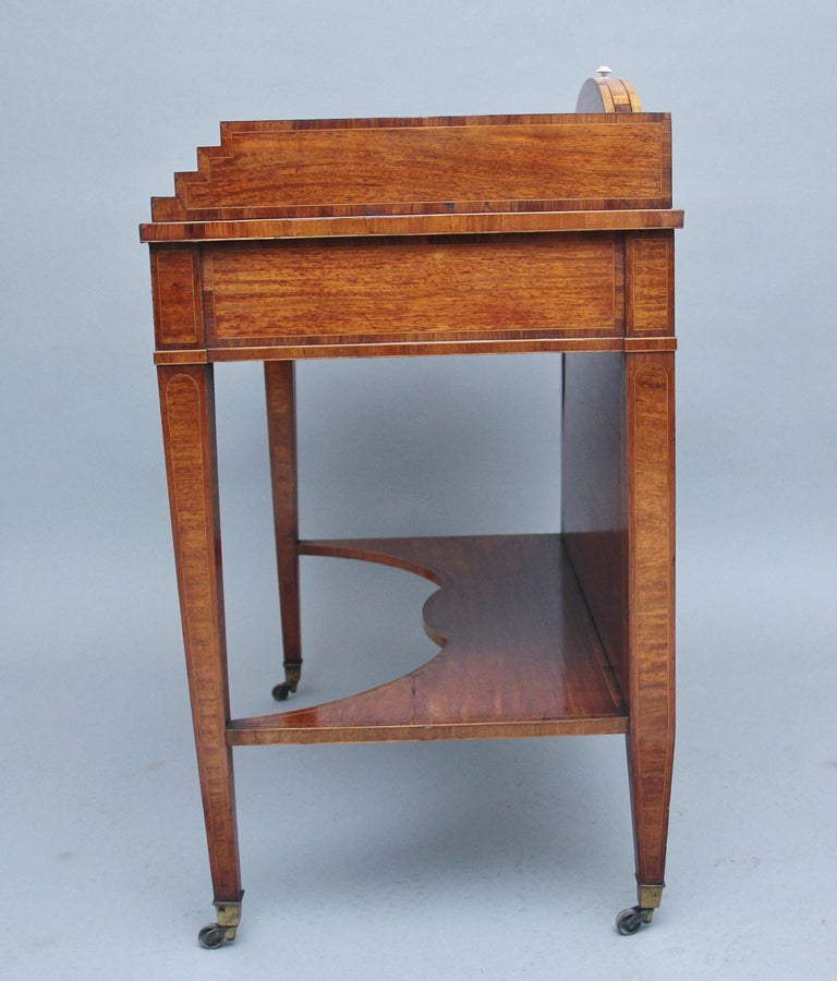 19th Century Satinwood Ladies Writing Table For Sale 4