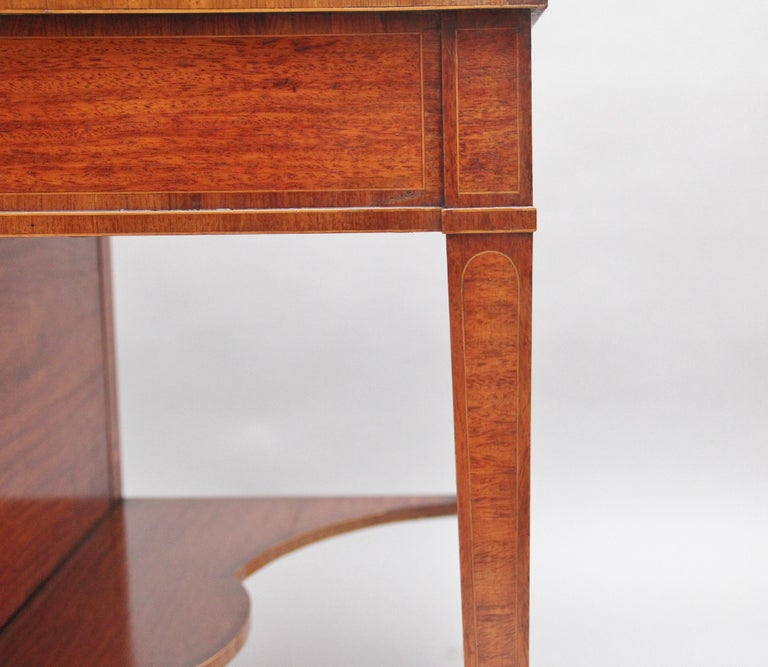 19th Century Satinwood Ladies Writing Table For Sale 7