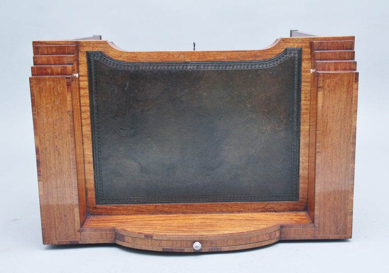 Sheraton 19th Century Satinwood Ladies Writing Table For Sale