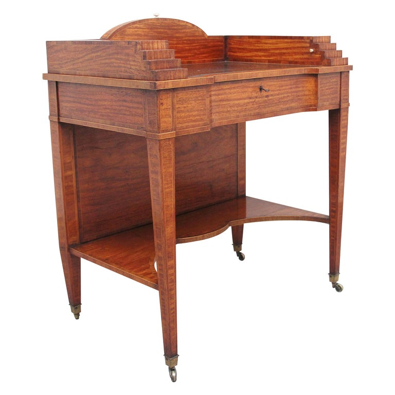19th Century Satinwood Ladies Writing Table For Sale