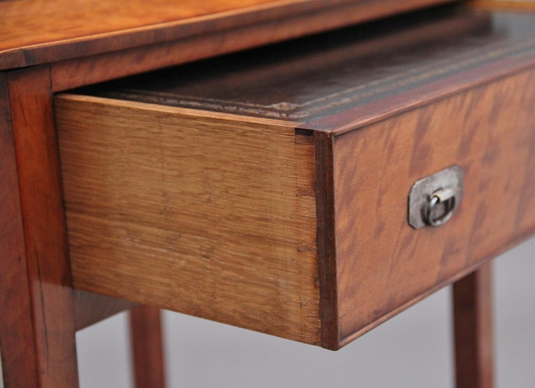 19th Century Satinwood Ladies Writing Table in the Sheraton Style For Sale 9