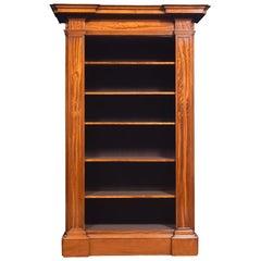 19th Century Satinwood Open Bookcase