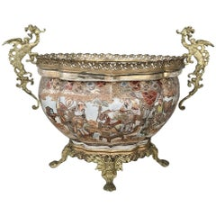 19th Century Satsuma Gilt Bronze-Mounted Jardinière with Dragons