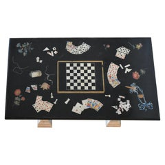 19th Century Scagliola Center Gaming Table