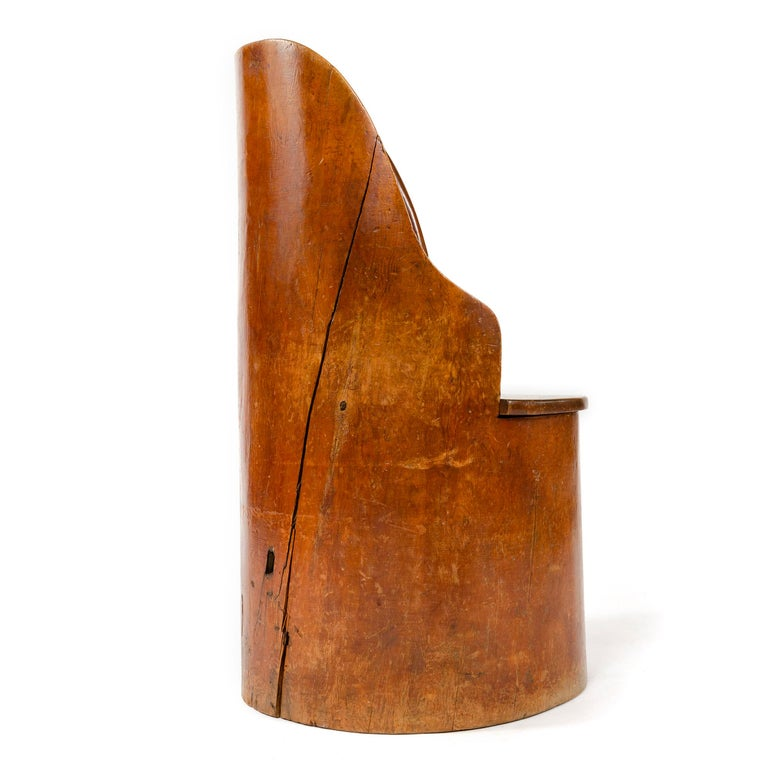 19th Century Scandinavian Craft Barrel Chair In Good Condition For Sale In Sagaponack, NY