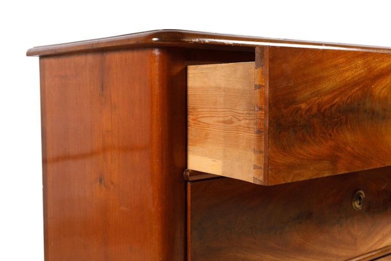 19th Century Scandinavian Empire Chest of Drawers in West Indies Mahogany 5