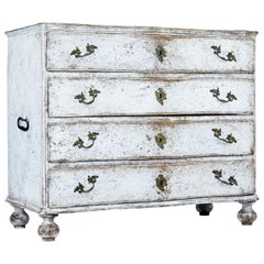 19th Century Scandinavian Painted Baroque Chest of Drawers