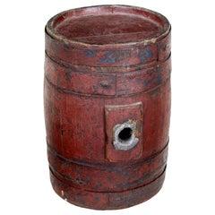 19th Century Scandinavian Painted Oak Barrel