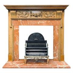 19th Century Scottish Georgian Manner Carved Pine Fireplace Surround