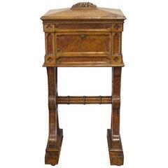 19th Century Scottish Gothic Revival Solid Pollard Oak Utility Box