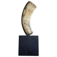 19th Century Scrimshaw Spanish Powder Horn