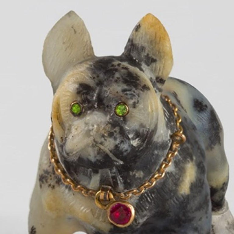 19th Century Sculpture of a French Bulldog In Excellent Condition For Sale In New York, NY