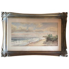 19th Century Seascape Watercolor by Laura Woodward