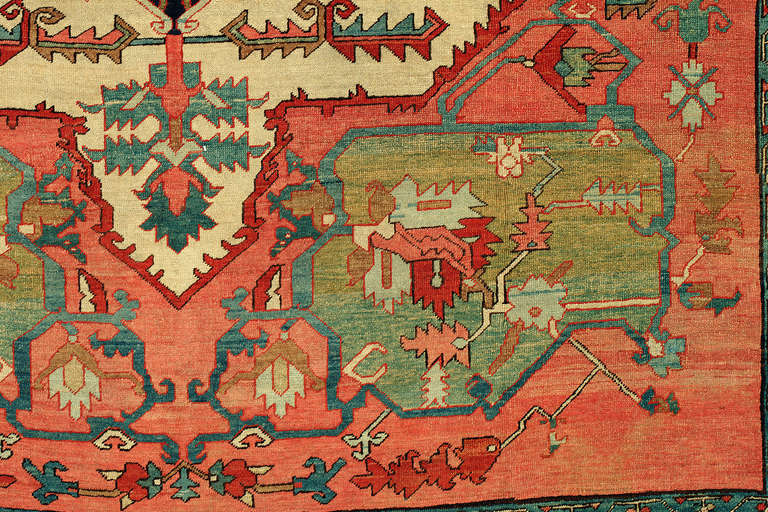 American Classical 19th Century Serapi Rug For Sale