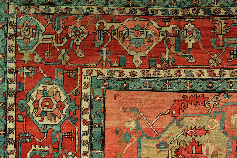 Hand-Woven 19th Century Serapi Rug For Sale