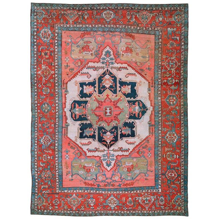 19th Century Serapi Rug For Sale