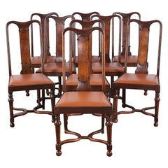 19th Century Set of 12 Walnut Dining Chairs