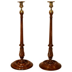 19th Century Set of 2 Tall Candlesticks