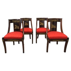19th Century Set of Four Empire Revival Side Chairs