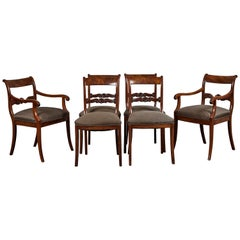 19th Century Set of 6 English Mahogany Dining Chairs
