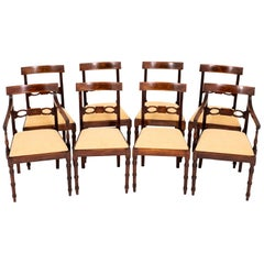 19th Century Set of Regency Mahogany Dining Chairs