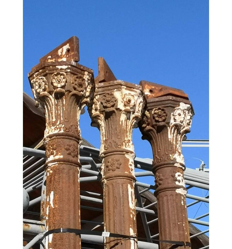 19th Century Set of Seven Cast Iron Columns In Good Condition For Sale In Malaga, ES