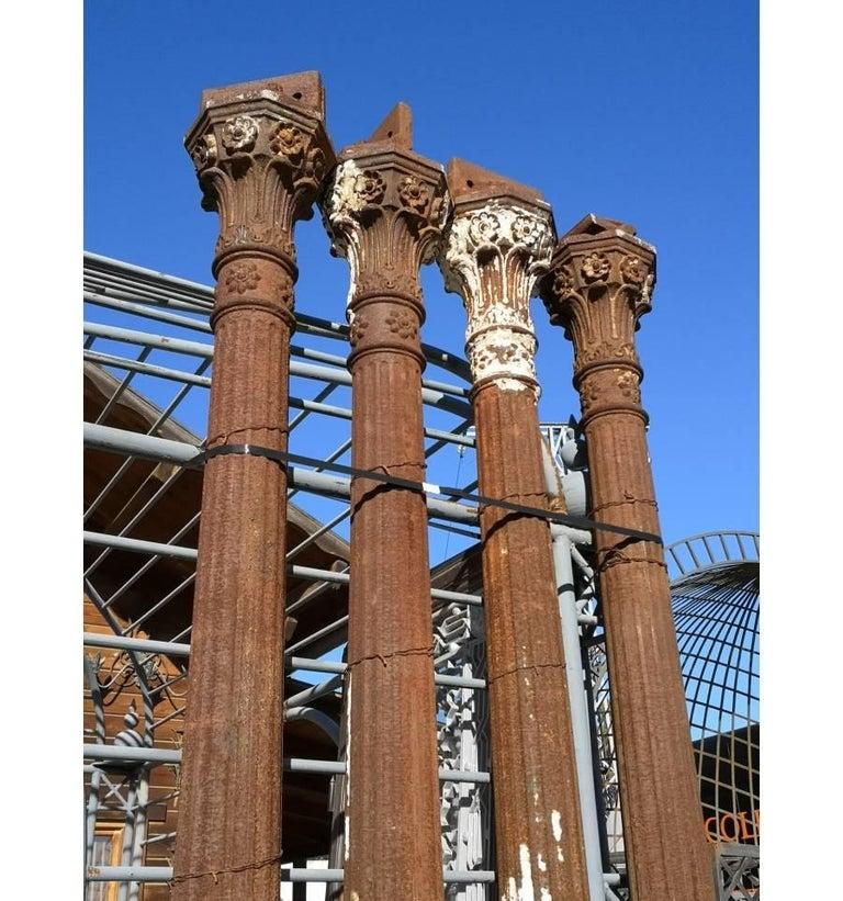 19th Century Set of Seven Cast Iron Columns For Sale 1