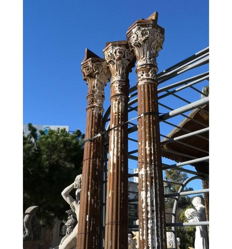 19th Century Set of Seven Cast Iron Columns For Sale 2