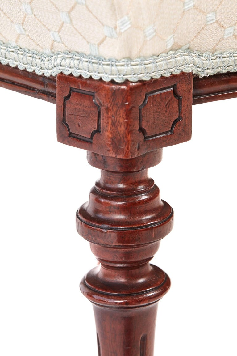 19th Century Set of Six Antique Victorian Walnut Dining Chairs For Sale 3