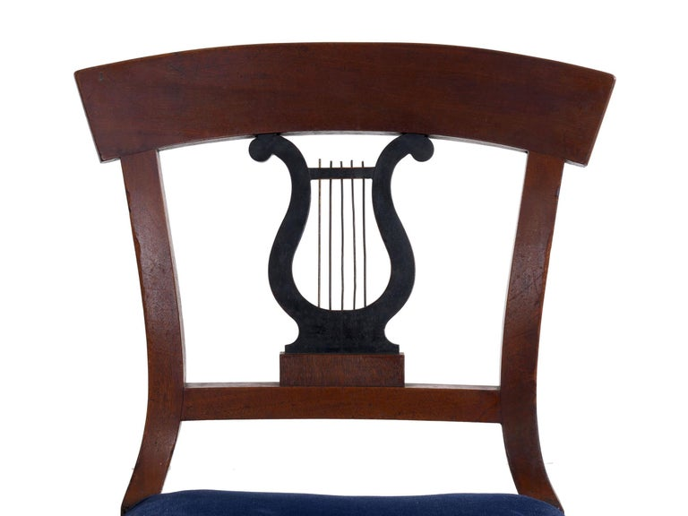 19th Century Set of Six Biedermeier Style Antique Dining Chairs For Sale 5