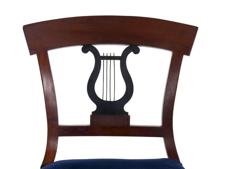 19th Century Set of Six Biedermeier Style Antique Dining Chairs For Sale 6
