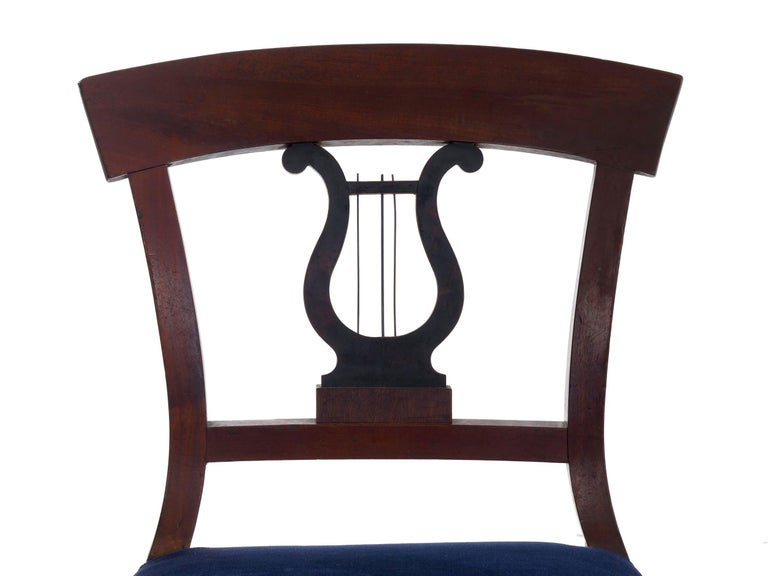 19th Century Set of Six Biedermeier Style Antique Dining Chairs For Sale 7
