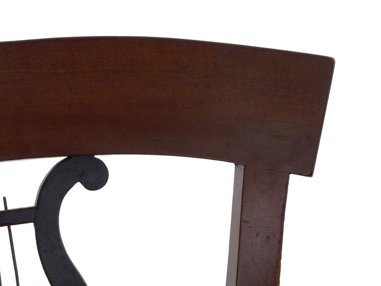 19th Century Set of Six Biedermeier Style Antique Dining Chairs For Sale 8